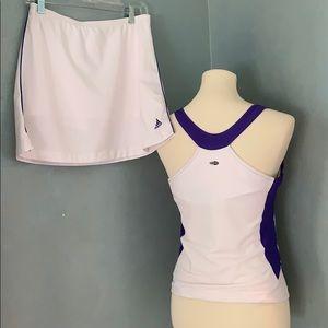 M EUC adidas tennis outfit